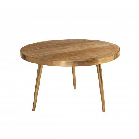 Light Gold Round Coffee Table
