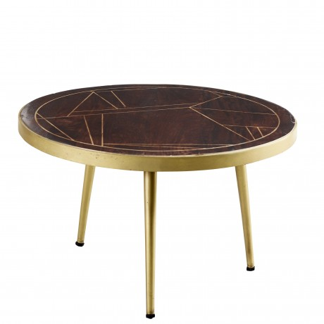 Dark Gold Round Coffee Table