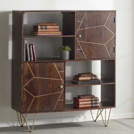 Dark Gold Display Cabinet