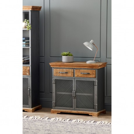 Metropolis Industrial 2 Drawer Sideboard