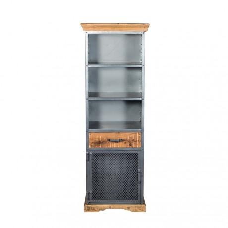 Metropolis Industrial Narrow Bookcase