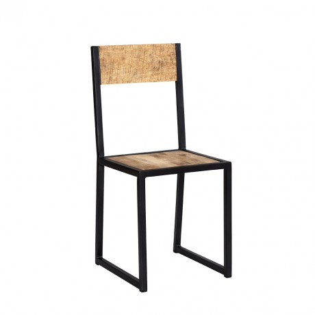 Cosmo Industrial Metal & Wood Dining Chair