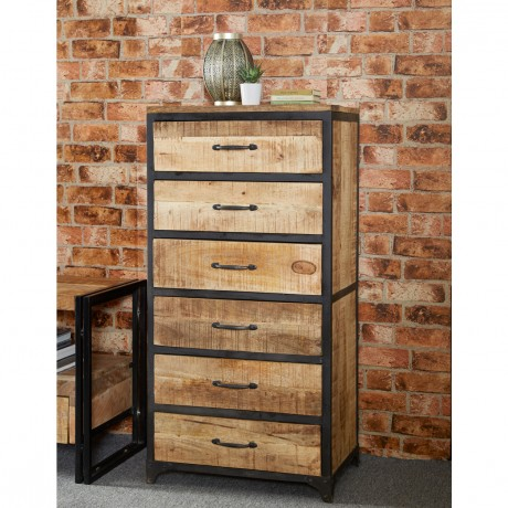 Cosmo Industrial Tall Chest
