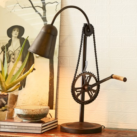 Cycle Chain Table Lamp Stand