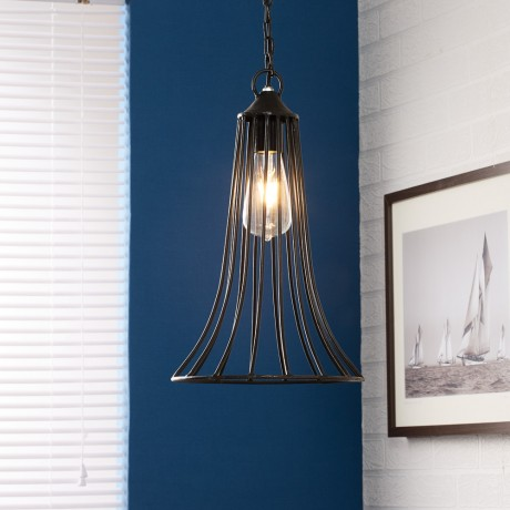 Cone Cage Hanging Lamp