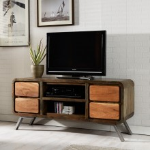 Aspen Iron/Wooden - Greeno TV Media Unit