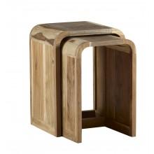 Aspen Nest of 2 Tables Wooden