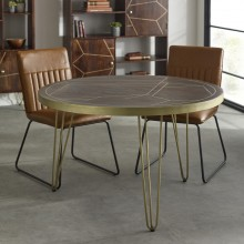 Dark Gold Round Dining Table