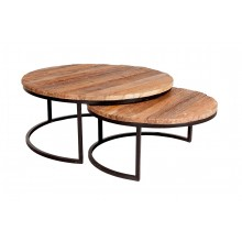 Railway Sleeper Coffee Tables - Set of 2