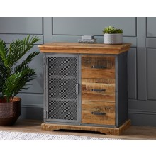 Metropolis Industrial 3 Drawer Sideboard