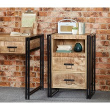 Cosmo Industrial 2 Drawer Side Table/Chest