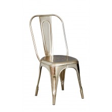 Cosmo Industrial Silver Metal Chair (Sold in Pairs)