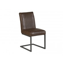 Brown matching Leather Dining Chair Chair (Sold in Pairs)