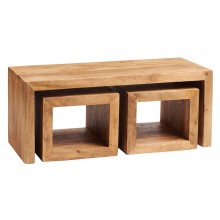 Toko Light Mango Cubed John Long Coffee Table Set
