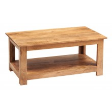 Toko Light Mango Coffee Table with Shelf