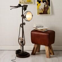 Iron-Cycle Floor Lamp