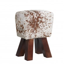Cowhide Stool Natural