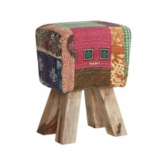 Multi Colour Fabric Stool