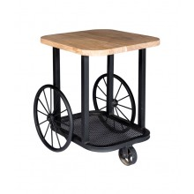 Craft Wheel End Table