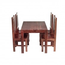 Cube  4 Ft Dining Set with Wooden Chairs