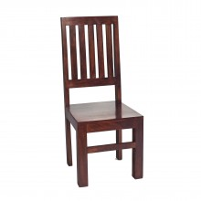 Toko Dark Mango Slat Back Chair (Sold in Pairs)