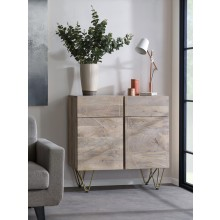 Light Gold 2 Door Medium Sideboard