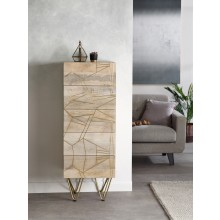 Light Gold Tall Chest of Drawers