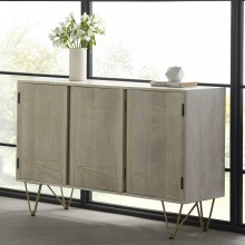 Light Gold Large Sideboard 3 Doors