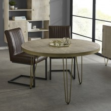 Light Gold Round Dining Table