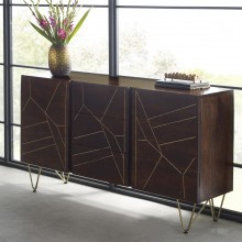 Dark Gold Extra Large Sideboard 3 Drawers and 2 Doors