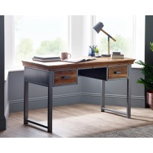 Metropolis Industrial 2 Drawer Writing Desk