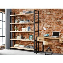 Cosmo Industrial Large Open Bookcase