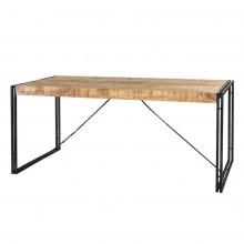 Cosmo Industrial Metal & Wood Dining Table - Medium