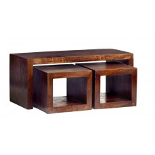 Toko Dark Mango Cubed John Long Coffee Table Set