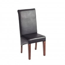 Leather Dining Chair matching our Toko Dark Range (Sold in Pairs)