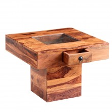 Jali Pebble Square Coffee Table