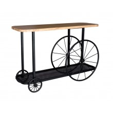 Craft Wheel Console Table